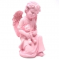 Mobile Preview: Engel Figur Rosa mit Teddy. 15 cm