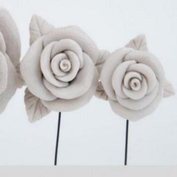 Hervorragend Grab Rosenblüte Mit Blätter, Rose Trauersymbol. D6,5cm