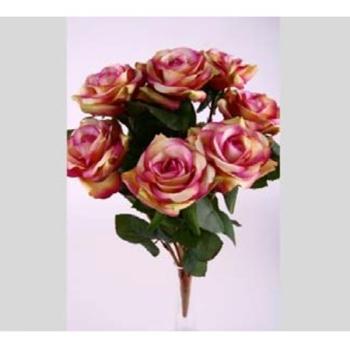 grab kunstrosen lavendel rosen busch mit 9 bl ten l38cm. Black Bedroom Furniture Sets. Home Design Ideas