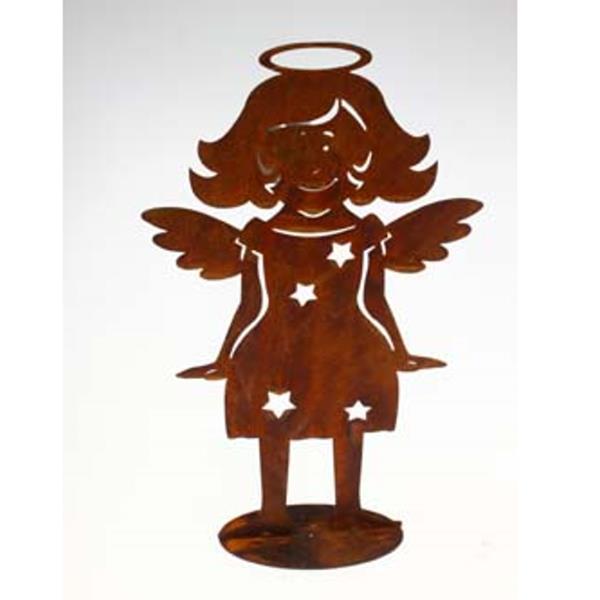 Deko engel aus metall kindergrab figur rost 20cm for Deko aus metall rost