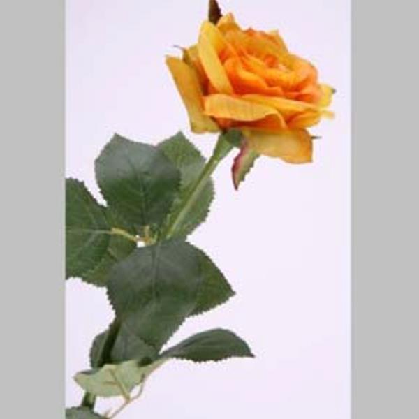 k nstliche deko blume gelbe rose kunstblume real touch. Black Bedroom Furniture Sets. Home Design Ideas