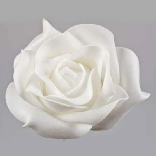 Deko Blumen deko blumen künstlich moosgummi weiß 9cm 6 stück